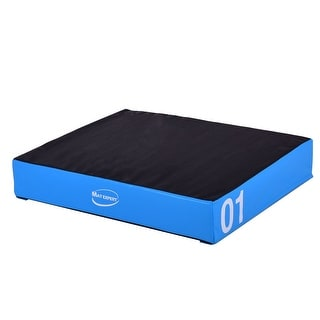 Costway 6'' PVC Soft Foam Jumping Box Plyometric Exercise Fitness Blue