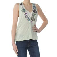 Free People Green Women's Size Large L Tank Cami Floral Blouse
