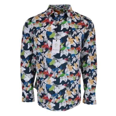 Robert Graham KINSLOWE Abstract Floral Print Classic Fit Shirt