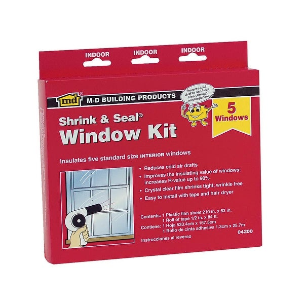M-D Shrink&Seal 5-Window Kit
