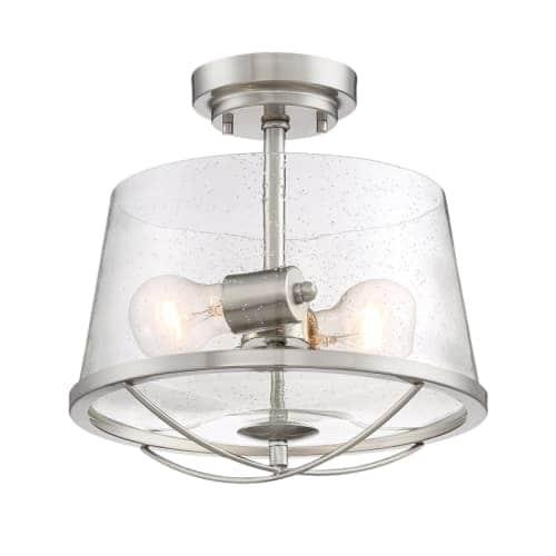 Designers Fountain 87011 Darby 2 Light Semi-Flush Ceiling Fixture