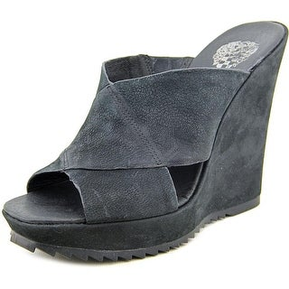 Vince Camuto Garton Women Open Toe Leather Wedge Sandal