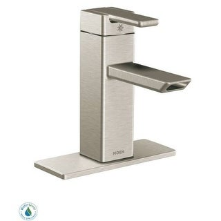 Moen S6700 Single Handle Single Hole Bathroom Faucet from the 90 Degree Collection (Valve Included)