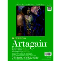Strathmore Artagain 400 Series Paper, 9 x 12 Inches, Black, 24 Sheets