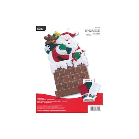 Bucilla Felt Kit Wall Hanging Down The Chimney - White