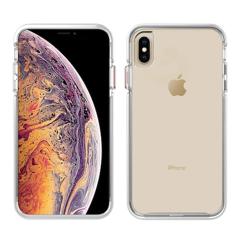 Pelican Ambassador Slim & Stylish Case for iPhone Xs Max - Clear/White/Rose Gold - White
