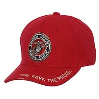 """United States marines """"The Few, The Proud"""" Red Adjustable Cap"""