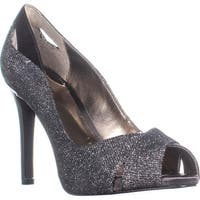 A35 Lyrra Peep-Toe Dress Pumps, Gunmetal