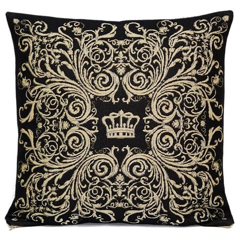 STP Goods Decorative Crown Tapestry Throw Pillow