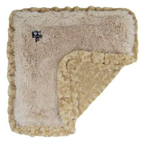 Bessie and Barnie Ultra Plush Blondie / Camel Rose Luxury Shag Dog/ Pet Blanket