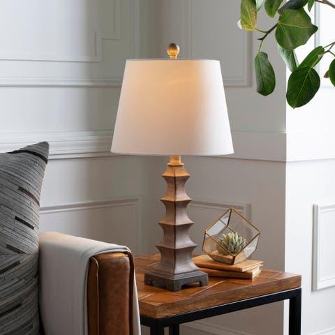 "Kiran Stacked Pagoda 24-inch Table Lamp - 24""H x 12""W x 12""D"