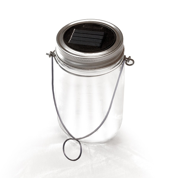 NITESHINE Solar Glass Mason Jar Light For Outdoor Decor Single Pack