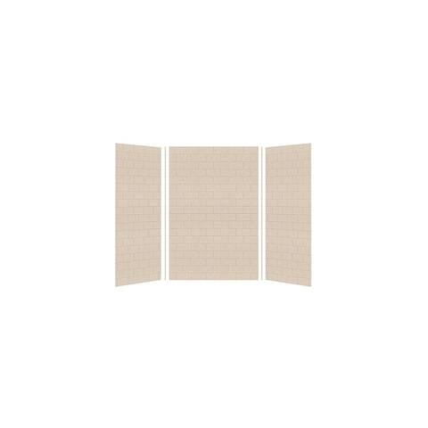 """Transolid SaraMar 36-In X 48-In X 72-In Glue to Wall Shower Walls - 48"""" x 36"""" x 72"""""""