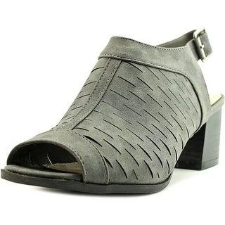 2 Lips Too Too Resa Women Open-Toe Synthetic Black Slingback Heel