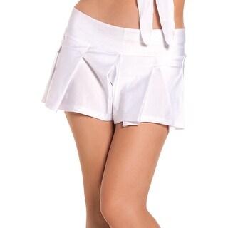 School Girls BW1024W Skirt - Color - White - Size - Medium/Large