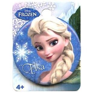 """Disney's Frozen 1.5"""" Button: """"Elsa"""" - Blue"""