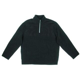 PGA Tour Mens Fleece Contrast Panel 1/4 Zip Pullover - L