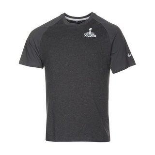 Nike NFL Super Bowl XLVIII T-Shirt Large L Dark Grey Team Apparel Tee Shirt