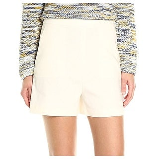 Theory NEW White Ivory Women's Size 10 Tarrytown Stretch Linen Shorts