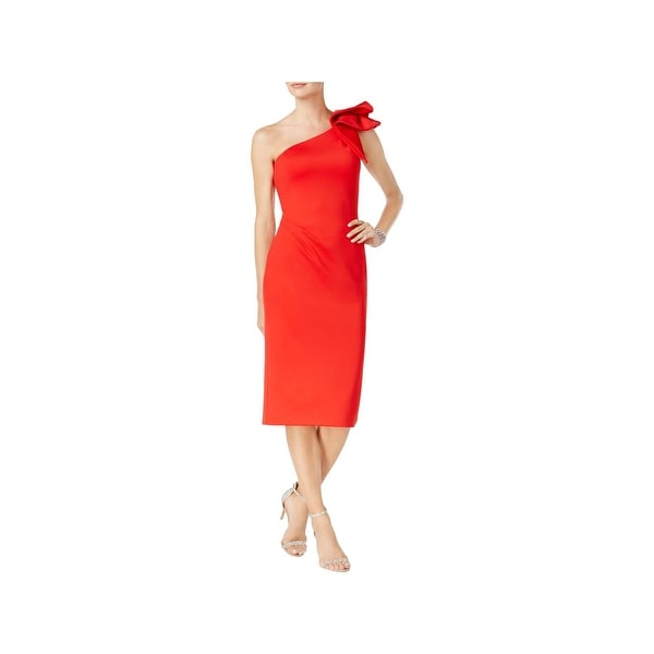 975530dbeae0 Betsy & Adam Womens Petites Special Occasion Dress Ruffled One Shoulder