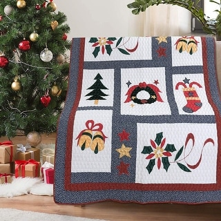 Link to Vintage Christmas Quilted Throw Blanket Similar Items in Blankets & Throws
