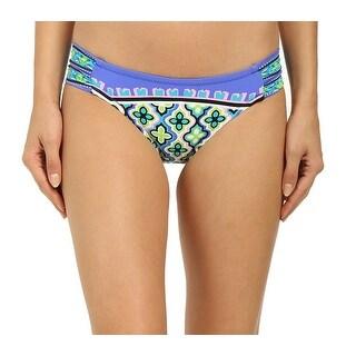 Trina Turk NEW Blue Purple Women's Size 4 Floral Bikini Bottom Swimwear