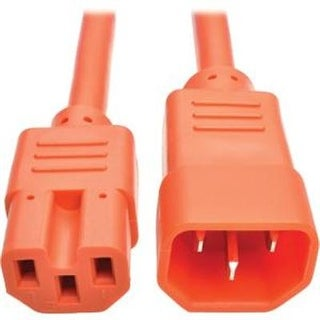 Tripp Lite 6Ft Heavy Duty Computer Power Extension Cord 15A, 14 Awg, C14 To C15, Orange 6'(P018-006-Aor)
