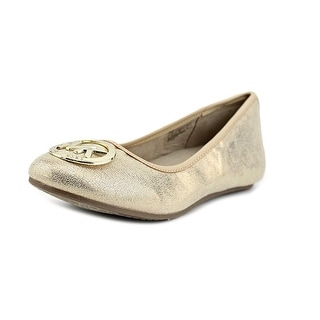 Michael Michael Kors Faye Ria Round Toe Synthetic Flats (Option: 2)