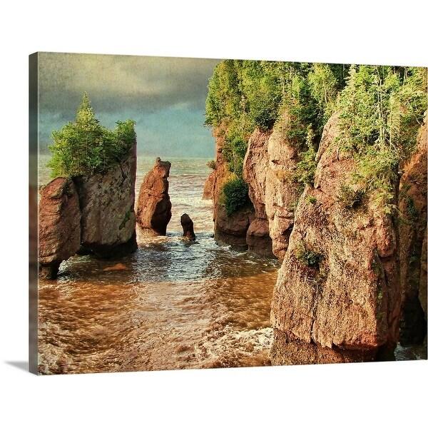 """""""Hopewell rocks, New Brunswick, Ohio"""" Canvas Wall Art"""