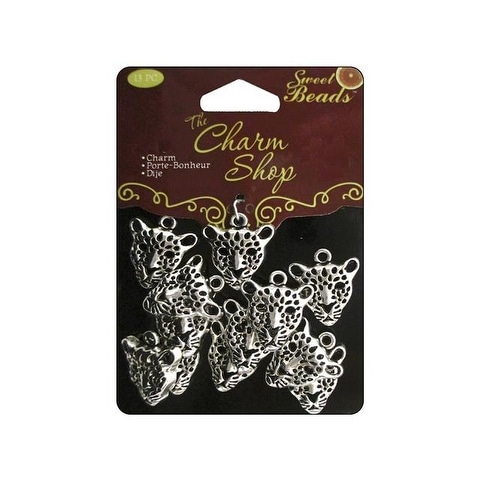 Sweet Beads Charm Shop Mtl Leopard Silver 13pc