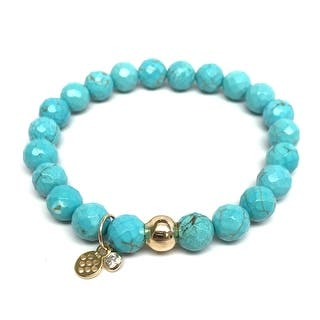 """Turquoise Magnesite Zoe 7"""" Bracelet