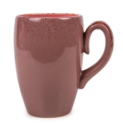 STP Goods Gourmet Beige Pink 16.5-Ounce Stoneware Mug