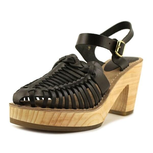 MTNG 94503 Women Round Toe Leather Black Slingback Heel