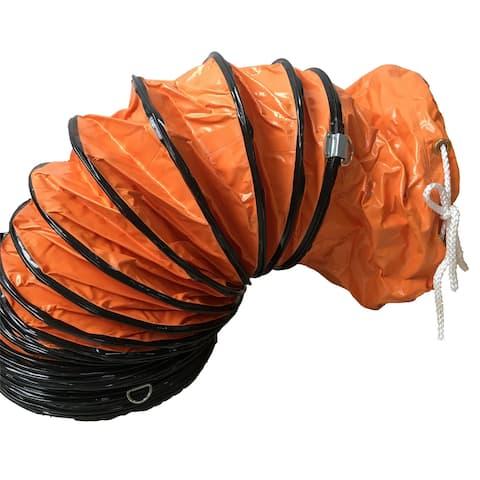 "iLIVING ILG8VF12-5 Flexible Ducting Hose, 12"" x 25 Feet, Orange"