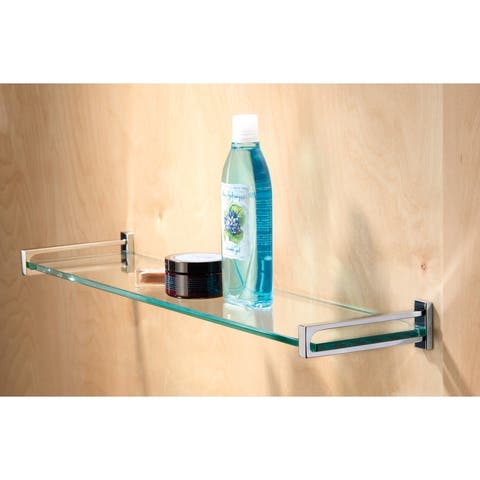 """Ginger 3018-24TSCL 24"""" Tempered Replacement Glass Shelf from the Frame Collection"""