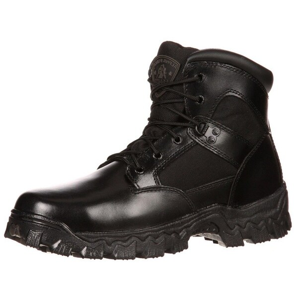 "Rocky Tactical Boots Mens 6"" Alphaforce Waterproof Black"