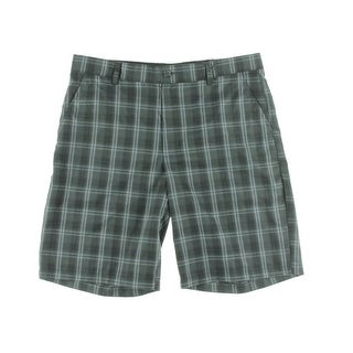Greg Norman Mens Plaid Golf Bermuda, Walking Shorts - 34