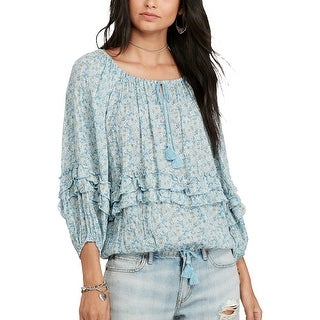 Denim & Supply Ralph Lauren Floral Print Gauze Top Blouse