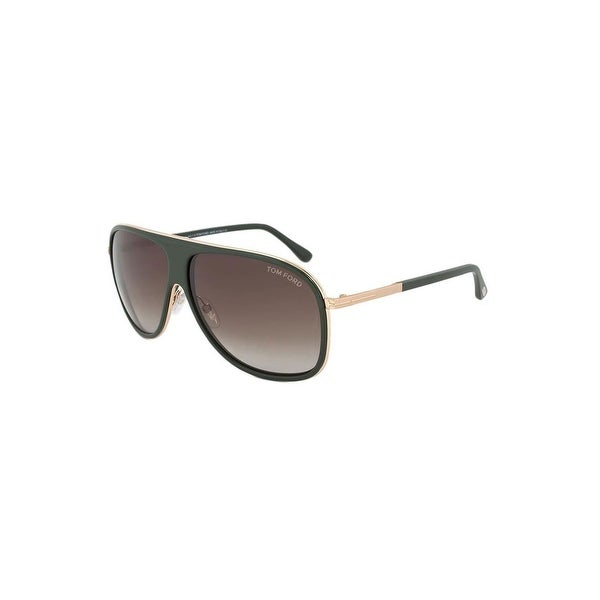 866f47c12f2a Shop Tom Ford Men s Stan Sunglasses In Green And Gold - Green And Gold - One  Size - Free Shipping Today - Overstock - 23510431