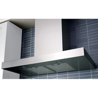 """Miseno MH00836AS 750 CFM 36"""" Stainless Steel Wall Mounted Range Hood with Dual Halogen Lighting System and Electronic LED"""