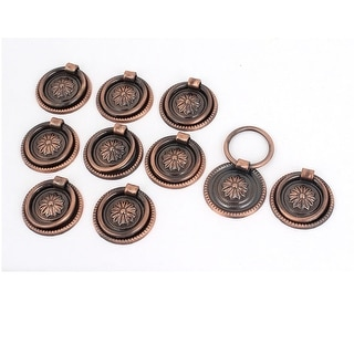 Unique Bargains Cupboard Cabinet Drawer 36mm Dia Vintage Style Ring Pull Knob Handle 10 Pcs