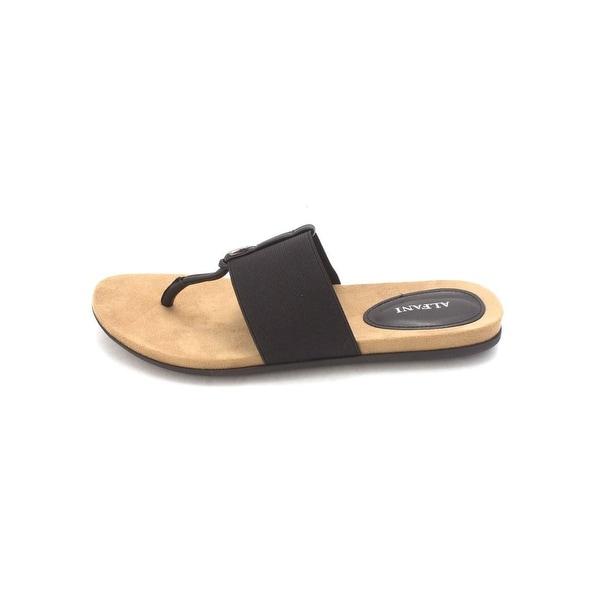 Alfani Womens harr Split Toe Casual Slide Sandals