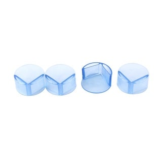 Table Desk Shelf  Edge Ball Corner Cushions Protector Guard Blue 4pcs