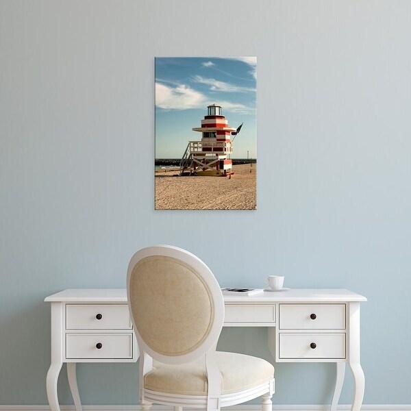 Easy Art Prints Richard Duval's 'Lifeguard Station On South Beach' Premium Canvas Art