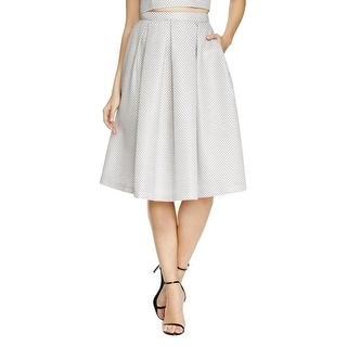 Aqua Womens Pleated Skirt Printed Textured
