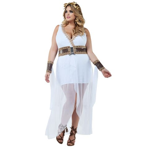 Plus Size Grecian Goddess Costume - As Shown