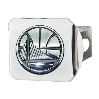 """NBA - Golden State Warriors Chrome Hitch Cover 4 1/2""""x3 3/8"""""""