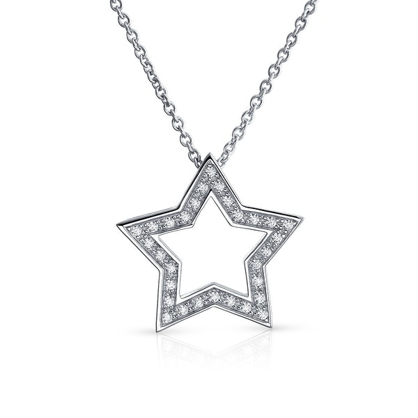 Shop Patriotic Open Star American Rock Star Large Pave Cubic