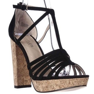 Charles by Charles David Faint Platfrom Dress Sandals - Black Suede