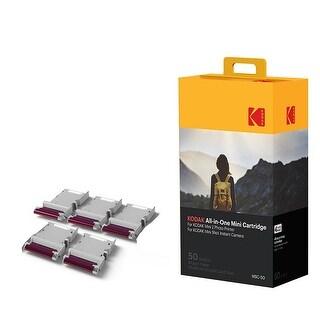 Kodak Mini 2 Photo Printer Cartridge MC All-in-One Paper & Color Ink Cartridge Refill - 50 Pack